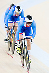 The team of Czech Republic with Alejandro Martinez Chorro, Jose Moreno Sanchez and Juan Peralta Gascson compete in Men's Team Sprint - Qualifying match as part of the 2017 UCI Track Cycling World Championships on 12 April 2017, in Hong Kong Velodrome, Hong Kong, China. Photo by Victor Fraile / Power Sport Images