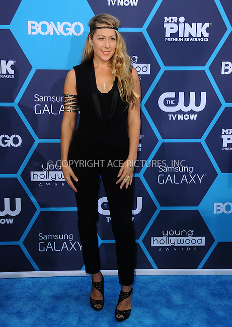 ACEPIXS.COM<br /> <br /> July 27 2014, LA<br /> <br /> Colbie Caillat arriving at the 2014 Young Hollywood Awards at The Wiltern on July 27, 2014 in Los Angeles, California. <br /> <br /> By Line: Peter West/ACE Pictures<br /> <br /> ACE Pictures, Inc.<br /> www.acepixs.com<br /> Email: info@acepixs.com<br /> Tel: 646 769 0430