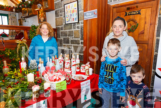Bardic Festival Christmas Market: Jacob, Chloe & Cian Deenihan visiting Patrise O'Hanlon's stall at the Bardic Festival Christmas market at the the Thatch Bar, Liselton on Saturday last.