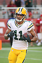 August 26 2016: Wide Receiver Trevor Davis of the Green Bay Packers during a 21-10 victory over the San Francisco 49ers at Levi's Stadium in Santa Clara, Ca.