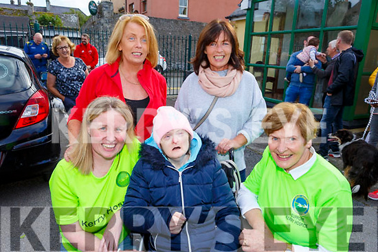 Attending the memorial walk for Tony O'Donovan for Recovery Haven on Saturday. Kneeling l to r: Andrea O'Donoghue, Maura Carmody, Bridie O'Connor.<br /> Standing l to r: Joan Carmody and Aileen Switzer.