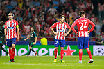 Atletico de Madrid's Diego Godin, Nicolas Gaitan and Jose Maria Gimenez dejected after Champions League 2017/2018, Group C, match 2. September 27,2017. (ALTERPHOTOS/Acero)