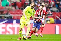 Atletico de Madrid's Koke Resurreccion (r) and Getafe CF's Sergio Mora during La Liga match. January 6,2018. (ALTERPHOTOS/Acero) /NortePhoto.com NORTEPHOTOMEXICO