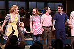 "Stephanie Torns, Riley Summer Perler, Christopher Fitzgerald with Joey McIntyre during his debut bows in Broadway's  ""Waitress"" at The Brooks Atkinson Theatre on February 4, 2019 in New York City."