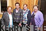 Joan Browne, Joan Kerin, Breda Horgan, Peggy O'Keeffe enjoying the Sliabh Luachra Active Retirement Dinner Dance at Ballygarry House on Sunday