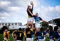 Action from the Mitre 10 Cup preseason rugby match between the Wellington Lions and Auckland at Evan's Bay Park in Wellington, New Zealand on Friday, 3 August 2018. Photo: Dave Lintott / lintottphoto.co.nz