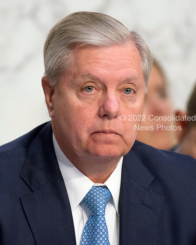 United States Senator Lindsey Graham (Republican of South Carolina) listens as Judge Neil Gorsuch testifies before the United States Senate Judiciary Committee on his nomination as Associate Justice of the US Supreme Court to replace the late Justice Antonin Scalia on Capitol Hill in Washington, DC on Tuesday, March 21, 2017.<br /> Credit: Ron Sachs / CNP