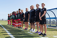 Bradenton, FL - Friday, June 08, 2018: Canada bench during a U-17 Women's Championship match between the United States and Canada at IMG Academy.  USA defeated Canada 1-0 to take top spot in their group and advance to the semifinals.
