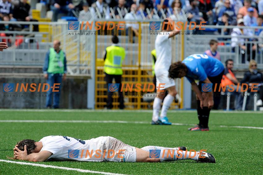 delusione di Lorik Cana (Lazio).Novara, 25/04/2012 .Football Calcio 2011/2012 .Novara vs Lazio.Campionato di calcio Serie A.Foto Insidefoto
