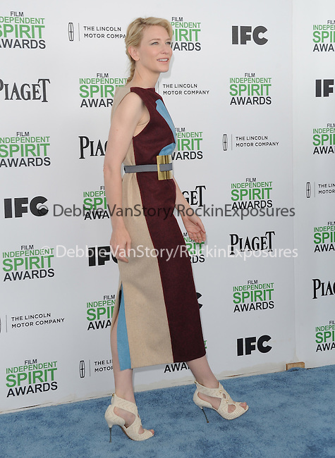 Cate Blanchett attends The 2014 Film Independent Spirit Awards held at Santa Monica Beach in Santa Monica, California on March 01,2014                                                                               © 2014 Hollywood Press Agency