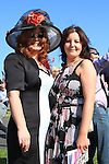Amanda and Ciara McCann at the Bellewstown Races 2011...(Photo credit should read Jenny Matthews www.newsfile.ie)....This Picture has been sent you under the conditions enclosed by:.Newsfile Ltd..The Studio,.Millmount Abbey,.Drogheda,.Co Meath..Ireland..Tel: +353(0)41-9871240.Fax: +353(0)41-9871260.GSM: +353(0)86-2500958.email: pictures@newsfile.ie.www.newsfile.ie.