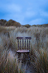 Abandoned Wooden Chair on Bull Island, Dublin