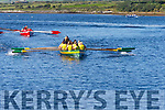Mikey Murphy cox of the Sive Seine Boat crew in the 'Wave Dancer' pushes his crew to the finish line with four lengths on the Sneem crew.