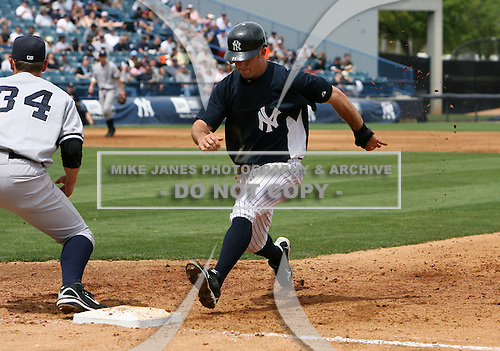 April 3, 2010:  Outfielder Brett Gardner (11) of the New York Yankees playing in the annual Futures Game during Spring Training at Legends Field in Tampa, Florida.  Photo By Mike Janes/Four Seam Images