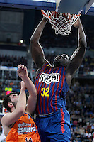 FC Barcelona Regal's Nathan Jawai (r) and Valencia Basket Club's Bojan Dubljevic during Spanish Basketball King's Cup Final match.February 07,2013. (ALTERPHOTOS/Acero)