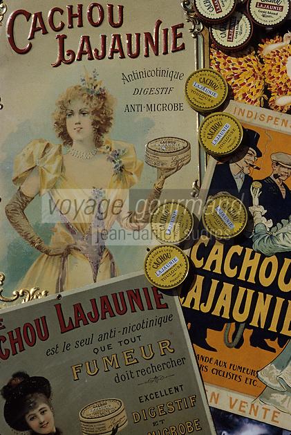 """Europe/France/Midi-Pyrénées/31/Haute-Garonne/Toulouse: Ancienne publicité pour """"Cachou Lajaunie"""""""