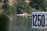 Lucerne, SWITZERLAND, 14th July 2018, Saturda,1250m marker, , FISA World Cup III Lake Rotsee, © Peter SPURRIER,