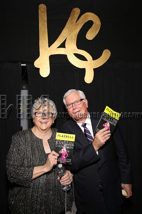 Junie Chenoweth and Jerry Chenoweth backstage during the Opening Night of Kristin Chenoweth - 'My Love Letter To Broadway'  at the Lunt-Fontanne Theatre on November 2, 2016 in New York City.