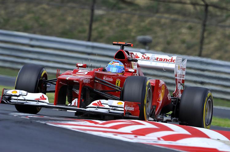 Fernando Alonso (ESP),  Scuderia Ferrari ..2012 FIA Formula One World Championship - Hungarian Formula One Grand Prix, Hungaroring, Budapest, Hungary, Saturday 28th July 2012...