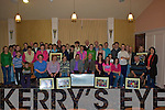 Cunamh - Some of the 300 plus from Iveragh who took part in the Pride of the Parish Variety concerts during February & March presenting Muiris O'Donoghue with a cheque for EUR25,000.  This money is to help with the building of a residential home for young adults with special needs The Ring of Kerry Hotel on Wednesday 13th.