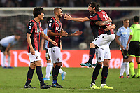 Takehiro Tomiyasu , Danilo and Andrea Poli of Bologna FC celebrate at the end of the match <br /> Bologna 30/08/2019 Stadio Renato Dall'Ara <br /> Football Serie A 2019/2020 <br /> Bologna FC - SPAL<br /> Photo Andrea Staccioli / Insidefoto