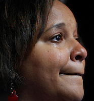8/27/08 4:49:54 PM -- Denver, CO, U.S.A. -- Democratic National Convention -- ..Mitchell Artis, of Springfield, Ohio, sheds tears of joy after all remaing votes were given to Barak Obama during the roll call Wednesday. ..Photo by Pat Shannahan, Gannett.