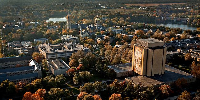 Aerial looking west..Photo by Matt Cashore/University of Notre Dame
