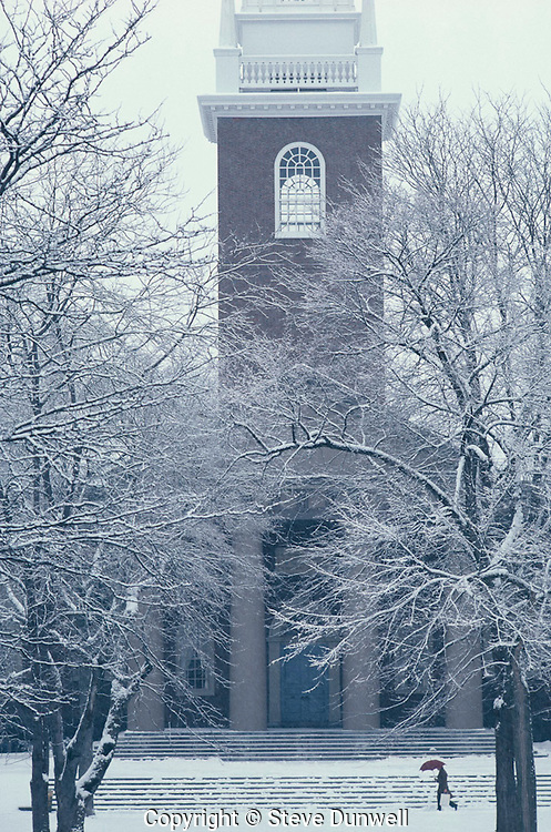 Memorial Hall snow, Harvard, Cambridge, MA