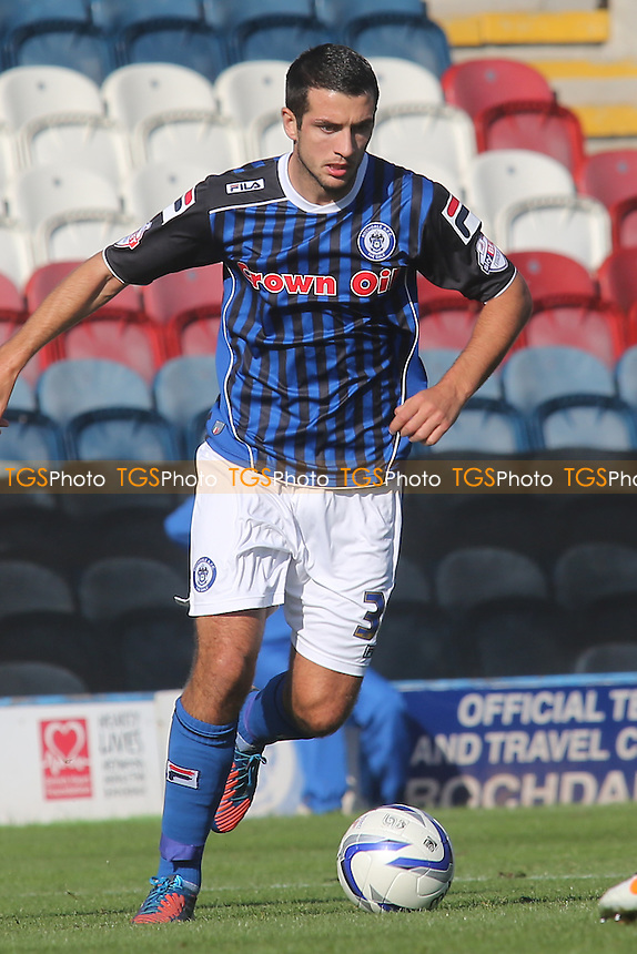 Gary Dicker of Rochdale - Rochdale vs Wycombe Wanderers - Sky Bet League Two Football at Spotland Stadium, Rochdale, Greater Manchester - 28/09/13 - MANDATORY CREDIT: Paul Dennis/TGSPHOTO - Self billing applies where appropriate - 0845 094 6026 - contact@tgsphoto.co.uk - NO UNPAID USE
