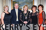 Mary MacMonagle, Conor Hennigan,  Geraldine Rosney, Margaret Cahill President, Bridget O'Connell at the SKAL Presidents dinner in the Malton Hotel on Saturday night