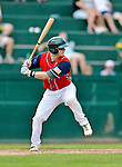 4 July 2012: Vermont Lake Monsters first baseman Jacob Tanis in action against the Hudson Valley Renegades at Centennial Field in Burlington, Vermont. The Lake Monsters edged out the Renegades the Cyclones 2-1 in NY Penn League action. Mandatory Credit: Ed Wolfstein Photo