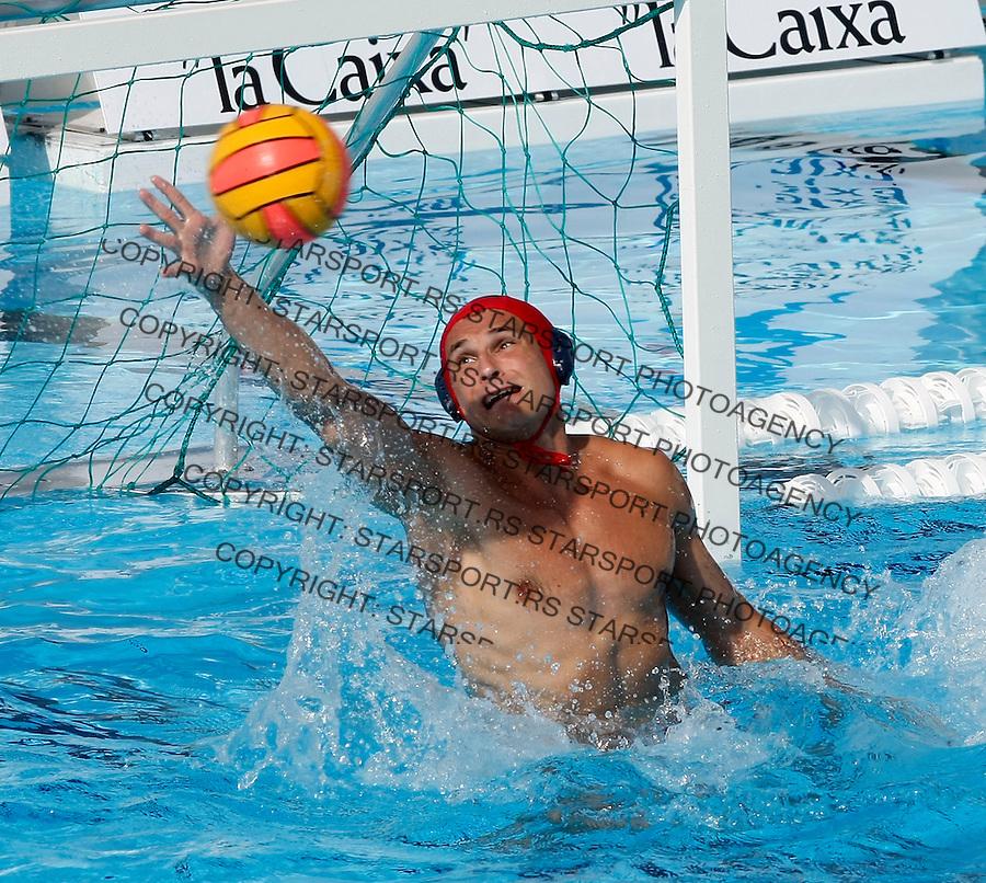 Vaterpolo.Evropsko prvenstvo, Malaga 2008.Srbija (Serbia) Vs. Makedonija (Macedonia).Goalkeeper Slobodan Soro.Malaga, 05.07.2008.foto: Srdjan Stevanovic
