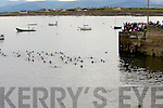 READY, STEADY GO: The start of the 7 Frogs Triathlon in the Maharees on Saturday.