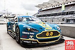 Alex MacDowall (GBR) / Darryl O'Young (CAN) / Fernando Rees (BRA) drivers of car #99 LMGTE PRO Aston Martin Racing (GBR) Aston Martin Vantage V8 in the pits at the 6 hours Circuit of the Americas - Austin - Texas - USA