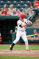 Springfield Cardinals left fielder Casey Turgeon (21) at bat during a game against the San Antonio Missions on June 4, 2017 at Hammons Field in Springfield, Missouri.  San Antonio defeated Springfield 6-1.  (Mike Janes/Four Seam Images)