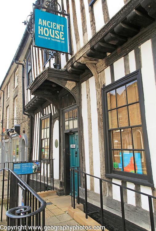 Ancient House museum of Thetford Life, Thetford, Norfolk, England, UK