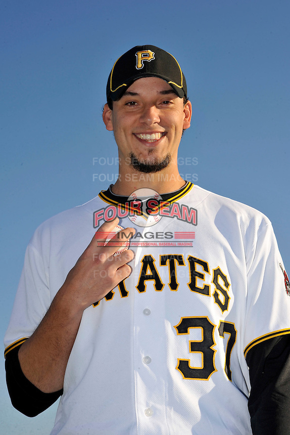 Feb 28, 2010; Bradenton, FL, USA; Pittsburgh Pirates  pitcher Charlie Morton (37) during  photoday at Pirate City. Mandatory Credit: Tomasso De Rosa/ Four Seam Images