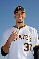 Feb 28, 2010; Bradenton, FL, USA; Pittsburgh Pirates  pitcher Charlie Morton (37) during  photoday at Pirate City. Mandatory Credit: Tomasso De Rosa/ Four Seam Images