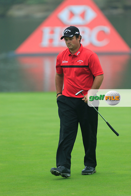Patrick Reed (USA) on the 18th green during Round 4 of the WGC HSBC Champions at the Sheshan International Golf Club in Sheshan, Shanghai, China on Sunday 13/09/15.<br /> Picture: Thos Caffrey | Golffile