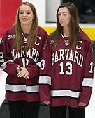 Samantha Reber (Harvard - 12), Kalley Armstrong (Harvard - 13) - The Harvard University Crimson tied the visiting Dartmouth College Big Green 3-3 in both team's first game of the season on Saturday, November 1, 2014, at Bright-Landry Hockey Center in Cambridge, Massachusets.