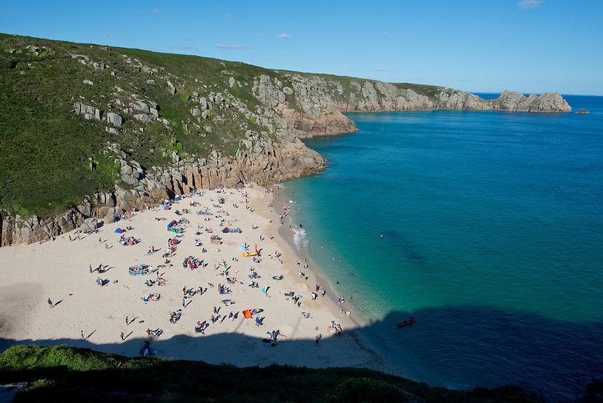 The Beach at Porthcurno. Cornwall, England