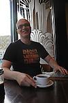 Writer Aleksandar Hemon is seen at the Metropolis Coffee Company in the Edgewater neighborhood of Chicago, Illinois on May 7, 2009.