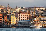 Istanbul, Turkey, Galata district,  Karakoy ferry dock, Golden Horn, Bosphorus, Turkish urban architecture,