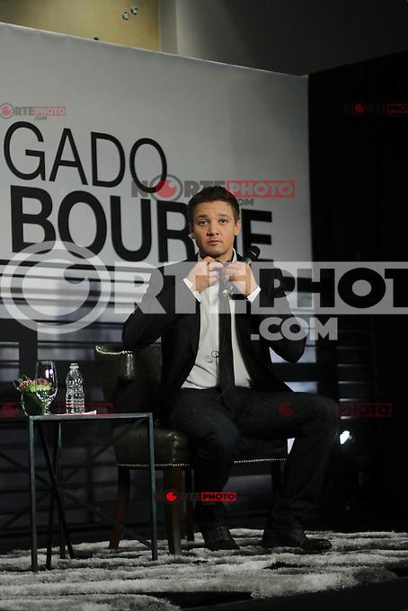 M&eacute;xico, D.F.- 22agosto2012 - St Regis Hotel.El actor californiano Jeremy Renner, ofreci&oacute; una conferencia de prensa en M&eacute;xico para promocionar su reciente pel&iacute;cula &quot;El Legado Bourne&quot;, .Photo: &copy;Alberto Viveros/DAMMPHOTO.COM. NortePhoto.com<br /> <br /> **CREDITO*OBLIGATORIO** *No*Venta*A*Terceros*<br /> *No*Sale*So*third* ***No*Se*Permite*Hacer Archivo***No*Sale*So*third*