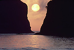 Olympic National Park, Shi Shi Beach, Point of the Arches, sea stacks, sunset, Washington State, Pacific Northwest, Olympic Coast National Marine Sanctuary,  Pacific Ocean, Northwest coast, Olympic Peninsula, North America, USA,.