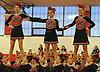 Syosset performs during the varsity segment of the Freeport Devil Winter Cheerleading Competition at Freeport High School on Sat, Dec. 16, 2017.