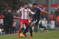 Ron Henry of Stevenage and Jake Jervis of Luton Town during Stevenage vs Luton Town, Sky Bet EFL League 2 Football at the Lamex Stadium on 10th February 2018