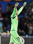 Getafe CF's David Soria celebrates goal during UEFA Europa League match. December 12,2019. (ALTERPHOTOS/Acero)