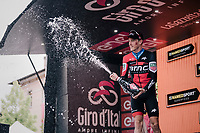 iTT stage winner Rohan Dennis (AUS/BMC) on the podium<br /> <br /> stage 16: Trento – Rovereto iTT (34.2 km)<br /> 101th Giro d'Italia 2018