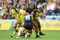 Tom Youngs of Leicester Tigers takes on the Wasps defence. Aviva Premiership semi final, between Wasps and Leicester Tigers on May 20, 2017 at the Ricoh Arena in Coventry, England. Photo by: Patrick Khachfe / JMP